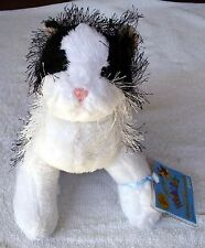 GANZ WEBKINZ SOFT STUFFED ANIMAL PET - BLACK & WHITE CAT  - W/SEALED CODE TAG