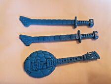 TMNT Teenage Mutant Ninja Turtles Classic Rocker LEO Guitar Sword Blue RARE