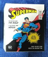 3 oz. Reverse Gold-Plated Pure Silver Coin - DC Comics Originals: SUPERMAN 50$