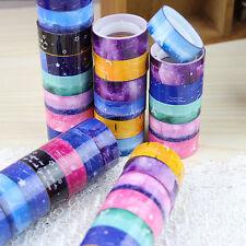 10 Rolls Design 1.5cm DIY paper Sticky Adhesive Sticker Decorative Washi Tape BD