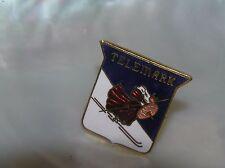 Estate Blue & White Enamel Telemark Viking Cross Country Skier Small Hat or Lape