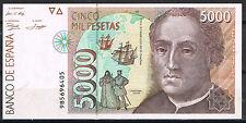 ESPAÑA - 5000 PESETAS 1992 C. COLÓN  Serie 9B   SC-  aUNC