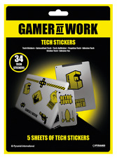 GAMER AT WORK TECH STICKERS PACK (34) NEW 100% OFFICIAL MERCH