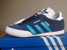 Adidas Super Samba Size 8 Blue Suede Deadstock 80s Retro Football Casuals