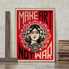 Shepard Fairey Kunstdruck Make Art Not War - Street Art Print Poster 46 x 61 cm