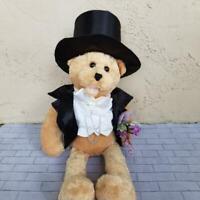 Chantilly Lane SInging Bear Top Hat Tux Just the Way You Look Plush Stuffed