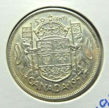 Canada  1957  50 cents .800  silver Half Dollar