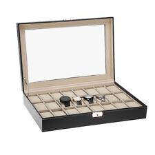 Coffret pour 24 montres boîte à montre boîtier rangement bijoux présentoir