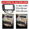 Car Stereo Radio Fascia Panel Audio Frame For Honda Jazz/ City (Auto AC LHD)2DIN