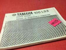 Yamaha 100 LS3 revue technique moto service Manuel atelier