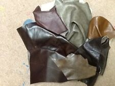 Italian Leather Offcuts 1/2 KILO SOFT MIXED BROWNS