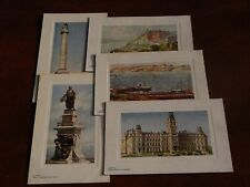 FIVE ORIGINAL TUCK CANADIAN POSTCARDS - QUEBEC - OILETTE No. P2557.