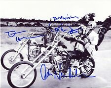 EASY RIDER photo cast signed by Peter Fonda, Dennis Hopper and Jack Nicholson