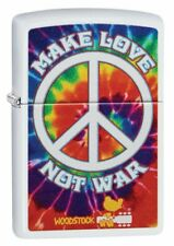 Zippo Woodstock Make Love Not War, Tie Die Design, Genuine Lighter #49013