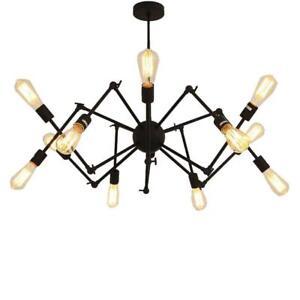 Sputnik Chandelier Ceiling Light Industrial Pendant E27 Vintage Spider Lamp UK