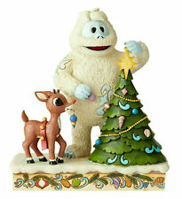 Jim Shore 2019 Rudolph Red Nosed Reindeer RUDOLPH WITH BUMBLE WITH TREE 6004145