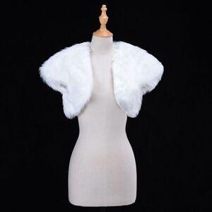 Shrug Fur Bolero Women's Wrap Cape Formal Wedding Attire Lovely Shawl Warm Cloth