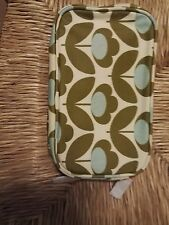 Orla Kiely etc in tela cerata make-up cosmetici Bag-Wild Meadow Floreale Doppio Cerniere