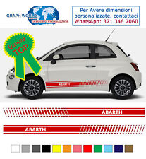 adesivi fasce 500 PERSONALIZZATE abarth auto stickers tuning fiancate racing