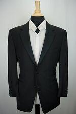 Canali 2B Black 100% Wool Formal 2 Pc Tuxedo Jacket Pants Sz 40R