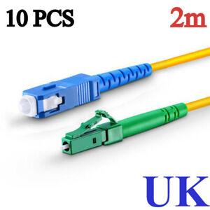 10 x  LC/APC to SC/UPC Singlemode Simplex Fiber Patch Cord jumper Optic Cable 2m