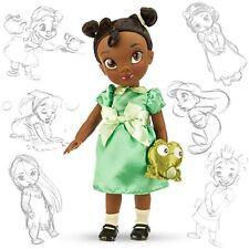 "16"" TIANA ANIMATOR DOLL Toddler Child w Plush Frog Disney Princess and the Frog"