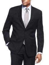 Michael Kors 100% Wool Men's Black Striped Classic fit Suit KELS2K2Z1324 36S US