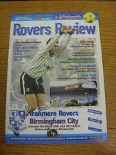 11/03/2000 Tranmere Rovers v Birmingham City  . Thanks for viewing this item, bu