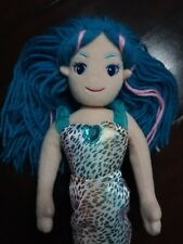 "Aurora Sea Sparkles mermaid doll 14"" blue yarn hair"