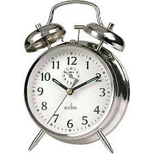 Acctim Saxon Chrome Large Double Bell Alarm Clock 12627