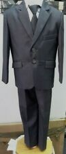 BRAND NEW BOYS FORMAL 5 PIECE SUIT BOY PROM WEDDING SUIT DARK GRAY  AGES 1 TO 14