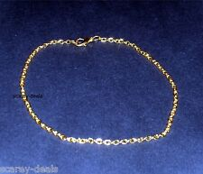 "5x   9"" Gold Plated ANKLET / BRACELETS JEWELERY MAKING Chain Link 1ST CLASS POST"