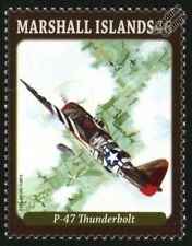 Republic P-47 THUNDERBOLT WWII D-Day Fighter Aircraft Mint Stamp (2013)