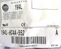 (3) Allen-Bradley 194L-HC4A-552 SER A Actuators