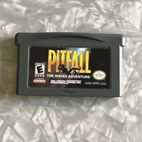 Pitfall Mayan Adventure Nintendo Gameboy Advance Cartridge Cleaned & Tested GBA