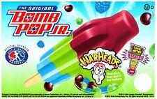 Ice Cream Truck Decal Sticker Bomb Pop Jr. Original Warheads Popsicle