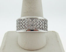 Genuine 3.00cttw Diamonds Solid 14k White Gold Men's Ring 12.5mm Extra Wide Band