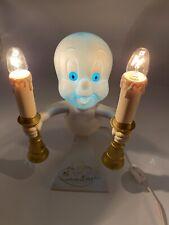 1996 Trendmasters Casper Ghost Candelabra Light Flame Flicker Halloween Scary