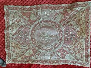 Antique French Handmade NORMANDY LACE DOILY