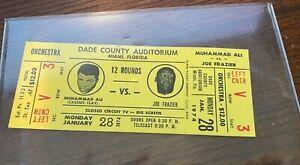 Muhammad Ali vs Joe Frazier Boxing Closed Circuit Boxing Ticket 1974