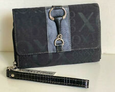 NEW! XOXO MIDDLETON JACQUARD LOGO BLACK CLUTCH WALLET WRISTLET PURSE $34 SALE
