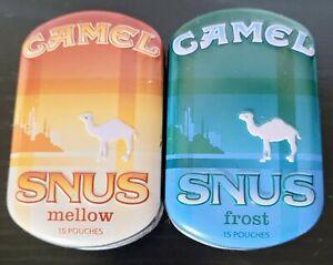 Vintage Camel Snus Frost & Mellow Tins EUC