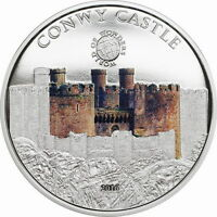 Palau 2016 Conwy Castle 5 Dollars Silver Coin,Proof