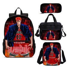 S/4 Anime Slam Dunk School Backpack Bookbags Lunch Bag Pen Case Shoulder Bag Lot