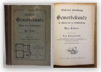 Eschner Illustrierte Gewerbekunde 1900 Technik Handwerk Wissen Baugewerbe xy