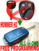 COMBINE KEY & REMOTE TO ALLin1 FLIP FOB FOR 2003-2007 HUMMER H2 ALARM CLICKER