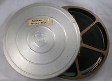 """Vintage 8mm Home Movies Wedding Parties 1954 Bell & Howell 7"""" Metal Reel & Case"""