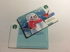 Starbucks Card Norway 🇳🇴 Christmas Snowman and red Bird Norway 🇳🇴