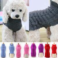 Dog Knit Jacket Sweater Pet Cat Puppy Coat Clothes Winter Warm Costumes Apparels