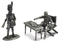 Figure Soldier Napoleonic War Austerlitz metal Napoleon & artilleryman 1/32
